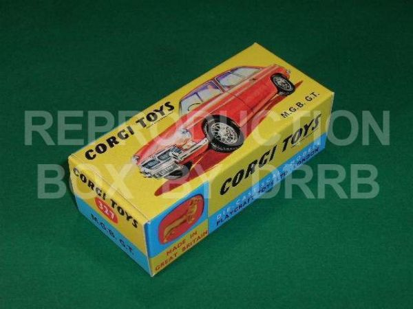 Corgi #327 M. G. B. G.T. - Reproduction Box